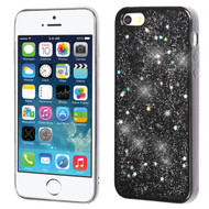 Luxury Bling Glitter Krystal Gel Case for iPhone SE / 5S / 5 - Starry Sky Silver