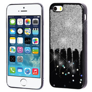 *Sale* Luxury Bling Glitter Krystal Gel Case for iPhone SE / 5S / 5 - Dripping Silver