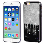 Luxury Bling Glitter Krystal Gel Case for iPhone 6 / 6S - Dripping Silver