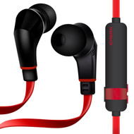 Naztech NX80 Bluetooth V4.1 Wireless Sport Headphones with Microphone - Red