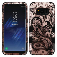 Military Grade Certified TUFF Image Hybrid Armor Case for Samsung Galaxy S8 Plus - Phoenix Flower Rose Gold