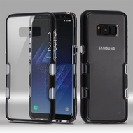 TUFF Panoview Transparent Hybrid Case for Samsung Galaxy S8 Plus - Black