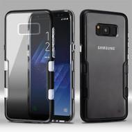 TUFF Panoview Transparent Hybrid Case for Samsung Galaxy S8 Plus - Gradient Black