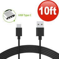 10 ft. USB 3.1 Type-C (USB-C) to Type-A (USB-A) Charge and Sync Cable - Black