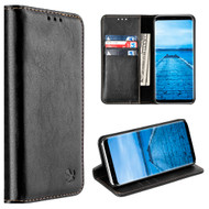 2-IN-1 Luxury Magnetic Leather Wallet Case for Samsung Galaxy S8 - Black