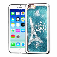 Electroplating Quicksand Glitter Transparent Case for iPhone 6 / 6S - Eiffel Tower Silver