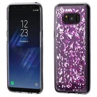 *Sale* Krystal Gel Series Flakes Transparent TPU Case for Samsung Galaxy S8 Plus - Purple