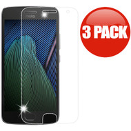 *SALE* HD Premium 2.5D Round Edge Tempered Glass Screen Protector for Motorola Moto G5 Plus - 3 Pack