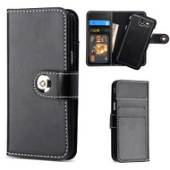*SALE* Leather Wallet Magnetic Case for Samsung Galaxy J3 (2017) / J3 Emerge / J3 Prime / Amp Prime 2 / Sol 2 - Black