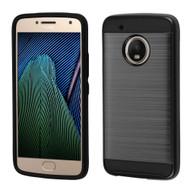 Brushed Hybrid Armor Case for Motorola Moto G5 Plus - Black