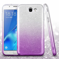 *SALE* Full Glitter Hybrid Protective Case for Samsung Galaxy J7 (2017) / J7 V / J7 Perx - Gradient Purple