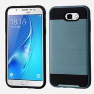 Brushed Hybrid Armor Case for Samsung Galaxy J7 (2017) / J7 V / J7 Perx - Ink Blue