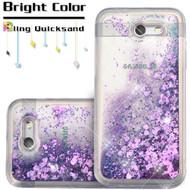 *SALE* Quicksand Glitter Transparent Case for Samsung Galaxy J7 (2017) / J7 V / J7 Perx - Purple