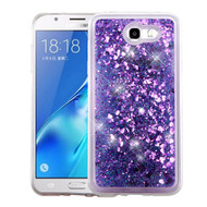 *SALE* Quicksand Glitter Transparent Case for Samsung Galaxy J7 (2017) / J7 V / J7 Perx - Purple