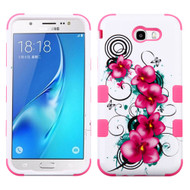Military Grade Certified TUFF Image Hybrid Armor Case for Samsung Galaxy J7 (2017) / J7 V / J7 Perx - Morning Petunias