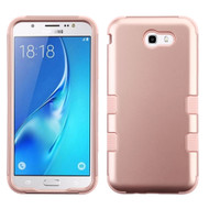 Military Grade Certified TUFF Hybrid Armor Case for Samsung Galaxy J7 (2017) / J7 V / J7 Perx - Rose Gold