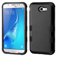 Military Grade Certified TUFF Hybrid Armor Case for Samsung Galaxy J7 (2017) / J7 V / J7 Perx - Black