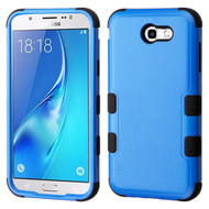 Military Grade Certified TUFF Hybrid Armor Case for Samsung Galaxy J7 (2017) / J7 V / J7 Perx - Blue