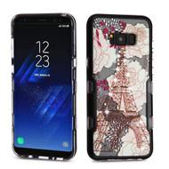 TUFF Panoview Transparent Hybrid Diamond Case for Samsung Galaxy S8 Plus - Eiffel Tower