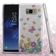 Full Glitter Hybrid Protective Case for Samsung Galaxy S8 Plus - Butterfly