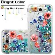 Quicksand Glitter Case for Samsung Galaxy J3 (2017) / J3 Emerge / J3 Prime / Amp Prime 2 / Sol 2 - Watercolor Flowers