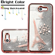 *SALE* Quicksand Case for Samsung Galaxy J3 (2017) / J3 Emerge / J3 Prime / Amp Prime 2 / Sol 2 - Eiffel Tower Rose Gold