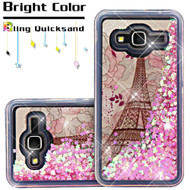 Quicksand Glitter Transparent Case for Samsung Galaxy Amp Prime / Express Prime / J3 / Sol - Eiffel Tower