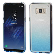Premium Sparkling Sheer Glitter Candy Case for Samsung Galaxy S8 - Gradient Blue