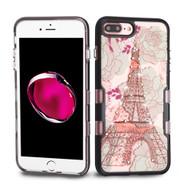 TUFF Panoview Transparent Hybrid Diamond Case for iPhone 8 Plus / 7 Plus - Eiffel Tower