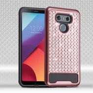 Luxury Bling Diamond Hybrid Case for LG G6 - Rose Gold
