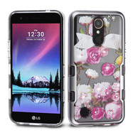 TUFF Panoview Transparent Hybrid Diamond Case for LG K20 Plus / K20 V / K10 (2017) / Harmony - Roses