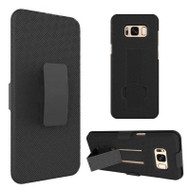 Kickstand Protective Case and Holster for Samsung Galaxy S8 - Black