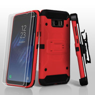 *SALE* 3-IN-1 Kinetic Hybrid Armor Case with Holster and Screen Protector for Samsung Galaxy S8 - Red
