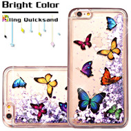 *SALE* Quicksand Glitter Transparent Case for iPhone 6 Plus / 6S Plus - Butterfly Dancing