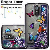Quicksand Glitter Transparent Case for LG Stylo 3 / Stylo 3 Plus - Butterfly Dancing