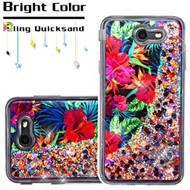 *SALE* Quicksand Glitter Transparent Case for Samsung Galaxy J7 (2017) / J7 V / J7 Perx - Hibiscus