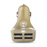 HyperGear High Power Quad USB 6.8A Car Charger - Gold