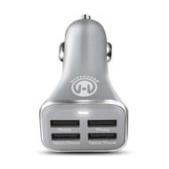 HyperGear High Power Quad USB 6.8A Car Charger - Silver