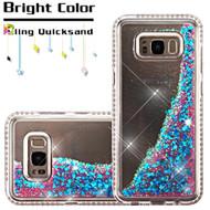 Diamond Quicksand Glitter Transparent Case for Samsung Galaxy S8 Plus - Blue