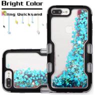 TUFF Quicksand Glitter Hybrid Armor Case for iPhone 8 Plus / 7 Plus / 6S Plus / 6 Plus - Black Blue