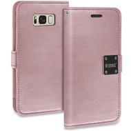 Essential Leather Wallet Case for Samsung Galaxy S8 Plus - Rose Gold