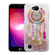 Quicksand Glitter Transparent Case for LG X Power 2 / Fiesta - Dreamcatcher