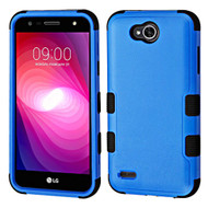 Military Grade Certified TUFF Hybrid Armor Case for LG X Power 2 / Fiesta - Blue