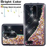 Quicksand Glitter Transparent Case for ZTE Max XL / Blade Max 3 - Pink