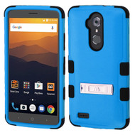 Military Grade Certified TUFF Hybrid Armor Case with Stand for ZTE Max XL / Blade Max 3 - Blue