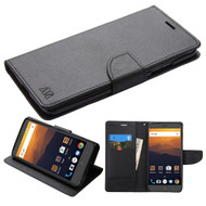 Diary Leather Wallet Case for ZTE Max XL / Blade Max 3 - Black