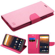 Diary Leather Wallet Case for ZTE Max XL / Blade Max 3 - Pink