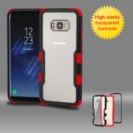 TUFF Vivid Hybrid Armor Case for Samsung Galaxy S8 - Black Red