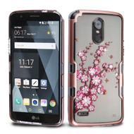 TUFF Panoview Transparent Hybrid Diamond Case for LG Stylo 3 / Stylo 3 Plus - Spring Flowers