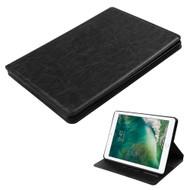 Book-Style Leather Folio Case for iPad (2018/2017) - Black
